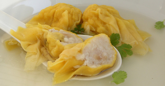 Wonton of wantan soep