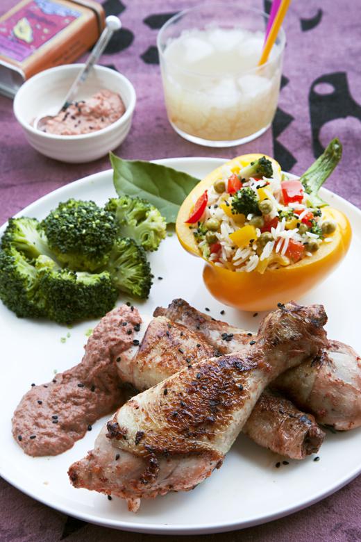Pollo Tandoori con Pulao di verdure