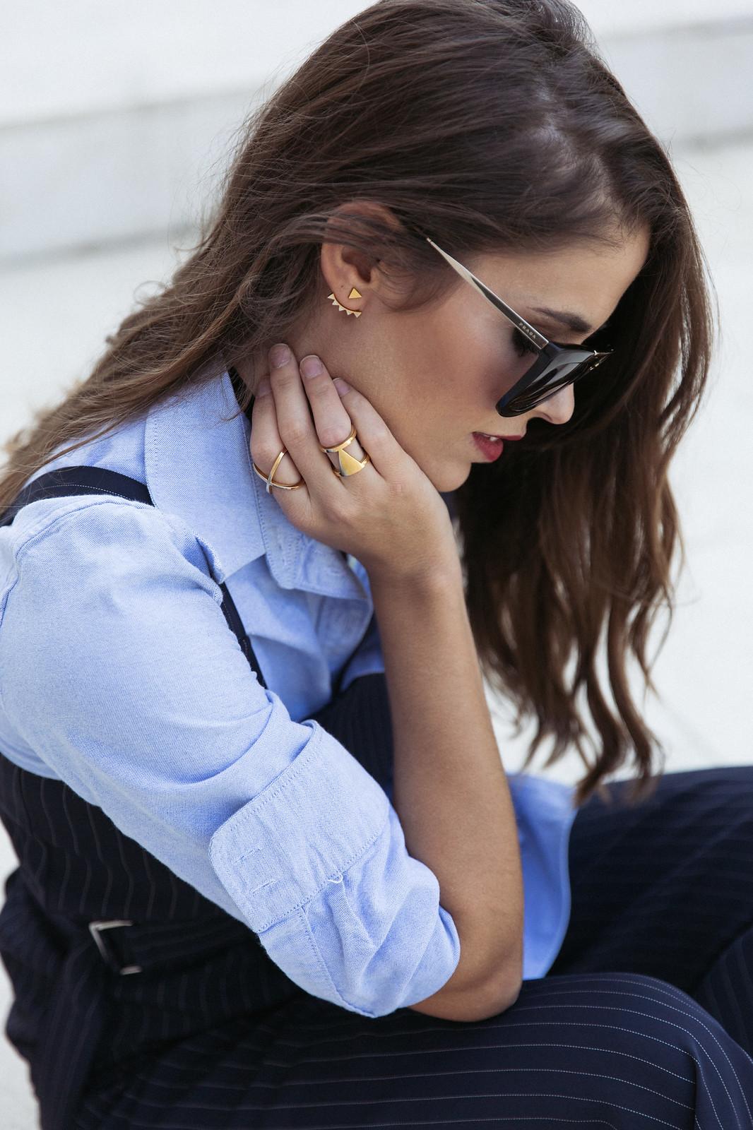 Jessie Chanes Seams for a desire - Pinstripped suit topshop heeled sandals schutz parfois bag  -8