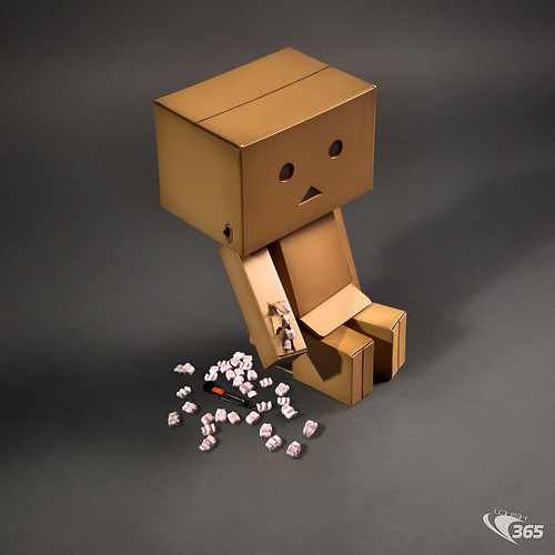 Careful with that Box Cutter Danbo! 40/365 | by Louish Pixel