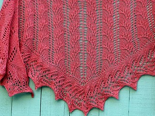 New Flambe Triangle shawl in Tilli Tomas | by fickleknitter