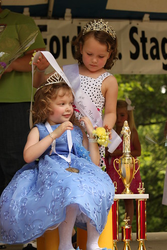2011 Little Miss Horseradish Fesitval receives her crown and sash from 2010 Little Miss. | by International Horseradish Festival