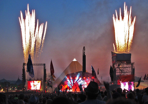 Glastonbury Festival June 2011 - Beyonce and fireworks over the Pyramid stage | by bobaliciouslondon