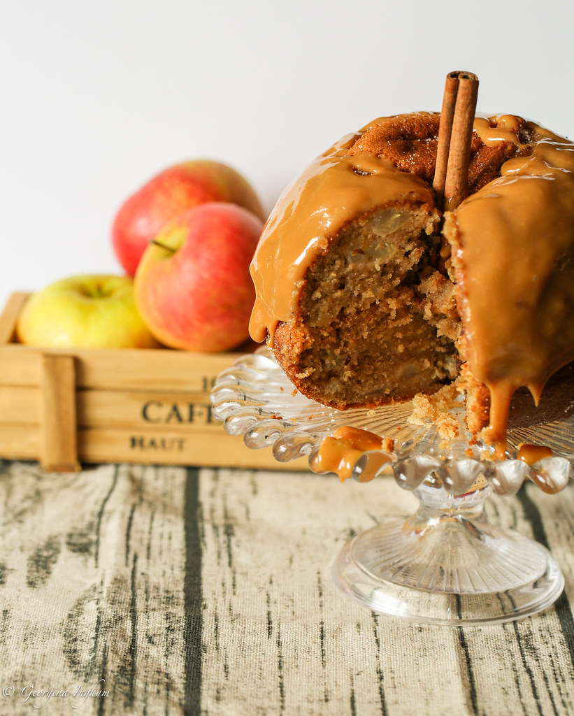 Georgina Ingham | Culinary Travels Autumnal Spiced Apple Cake with Toffee Sauce