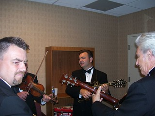 Rob, Ron and Del Backstage | by delmccouryband