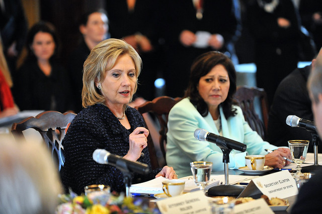Secretaries Clinton and Solis Participate in the President's Interagency Task Force To Monitor and Combat Trafficking in Persons