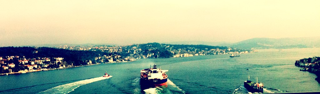 A Ship on Bosphorus
