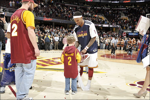 Gibson Gives His Game Shoes to a Fan After the Last Game of the 2010-11 Season | by Cavs History