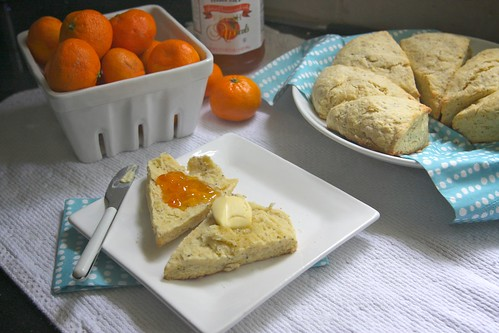 orange poppy seed scones | by shutterbean