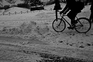 Snow Drifting - Winter Cycling in Copenhagen | by Mikael Colville-Andersen