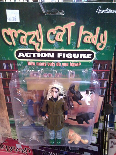 Crazy cat lady action figure | by ginatrapani