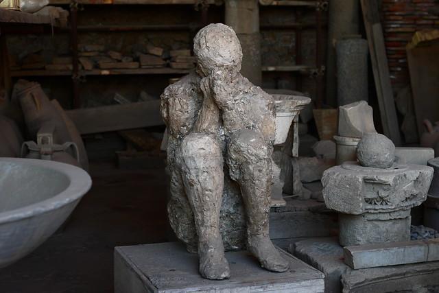 Pompeii Victim Plaster Cast