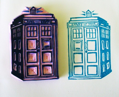 The Tardis - Hand Carved Stamp | by Miss Thundercat