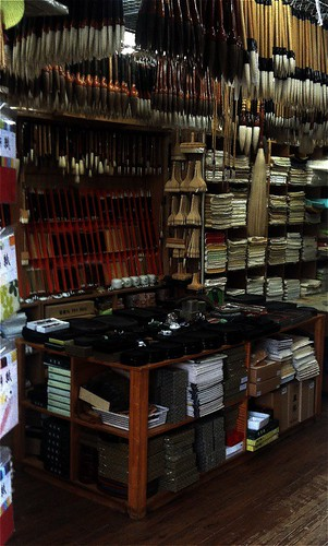 Calligraphy shop hundreds of different brushes and paper Calligraphy store