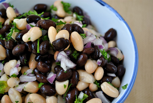 Black & White Bean Salad | by cookbookman17