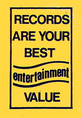 Records Are Your Best Entertainment Value | by DJ Fass