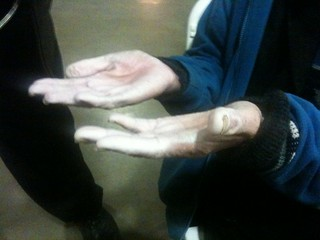 Paul's hands from the rain | by invisiblepeople.tv