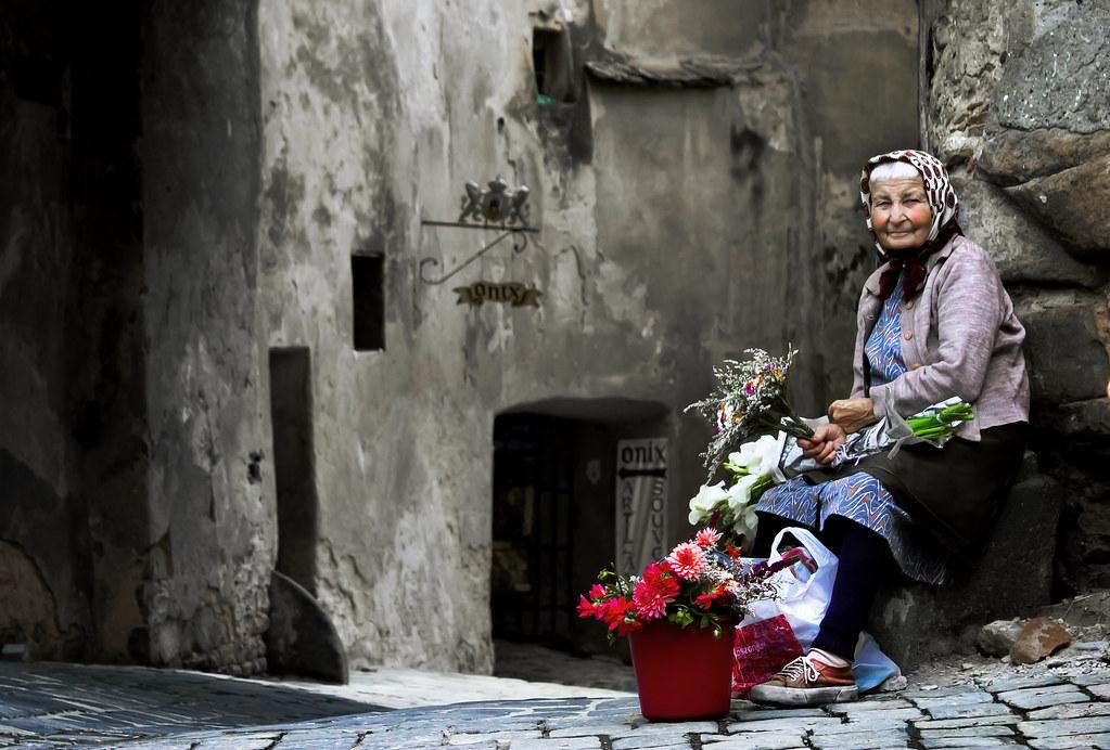 la venditrice di fiori