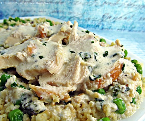 Tarragon Chicken wtih Sweet Pea Couscous | by CinnamonKitchn