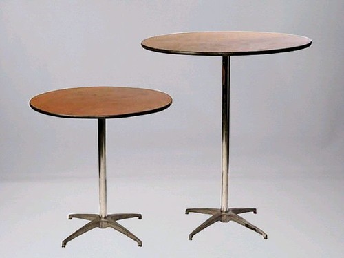 30 inch round sit down and stand up tables ceate a cafe flickr. Black Bedroom Furniture Sets. Home Design Ideas