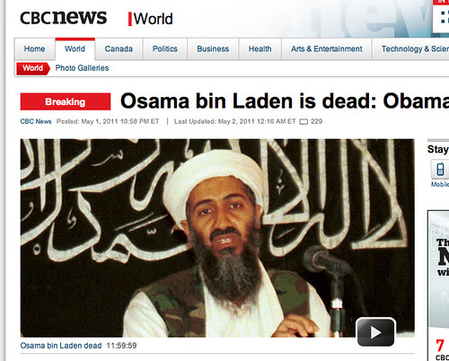 President Obama confirms death of Osama bin Laden | by k-ideas