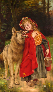 "Gabriel Joseph Marie Augustin Ferrier (French, 1847-1914), ""Little Red Riding Hood"" 