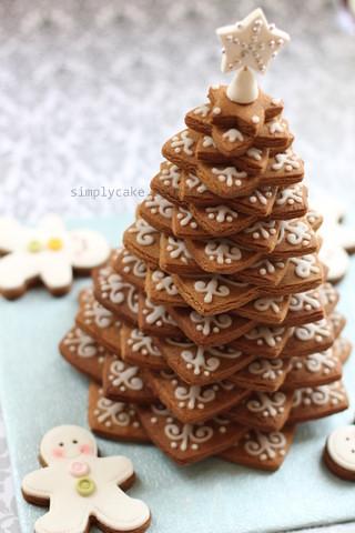 gingerbread cookies christmas tree | stack star cookies, pip ...