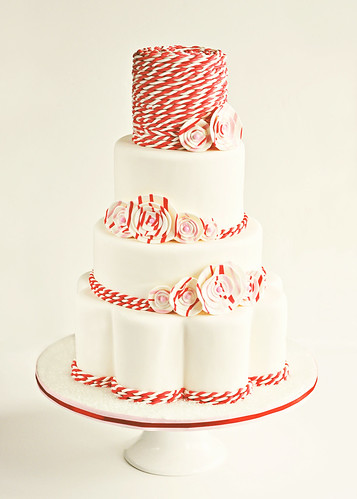Peppermint Twist Wedding Cake | by Sweetapolita