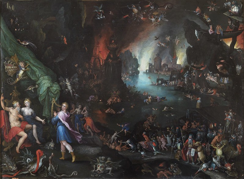 Jan Brueghel the Elder - Orpheus Sings for Pluto and Proserpina, 1594