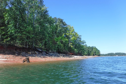 Paddling to Ghost Island in Lake Hartwell-73