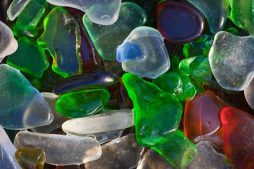 Glass Ground by Surf at Fort Bragg's Glass Beach | by Lee Rentz