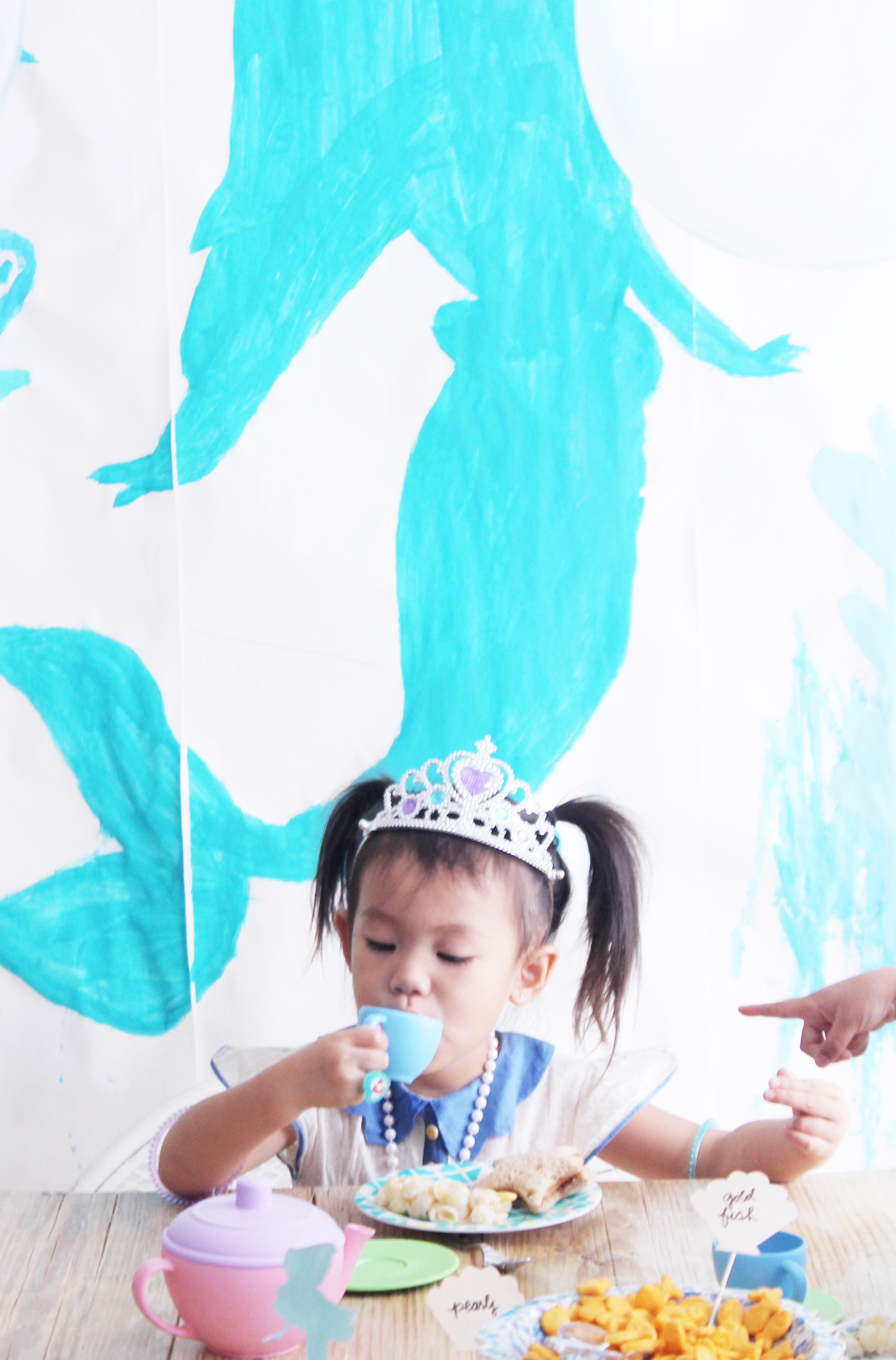 serene turns 3 - mermaid tea party