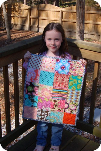 Megan & her mini quilt | by j_q_adams