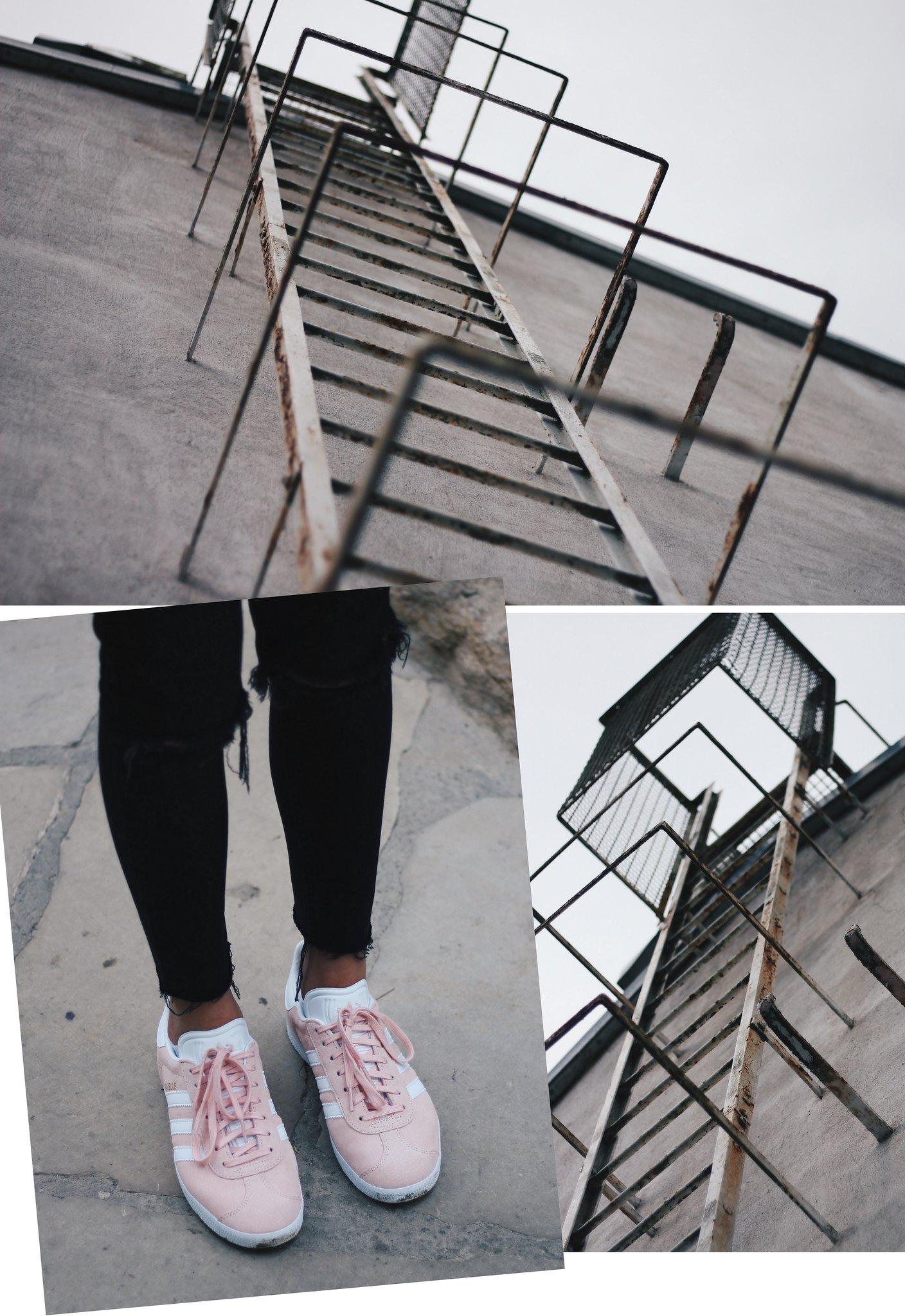 adidas originals gazelle rosa - treppe botanischer garten