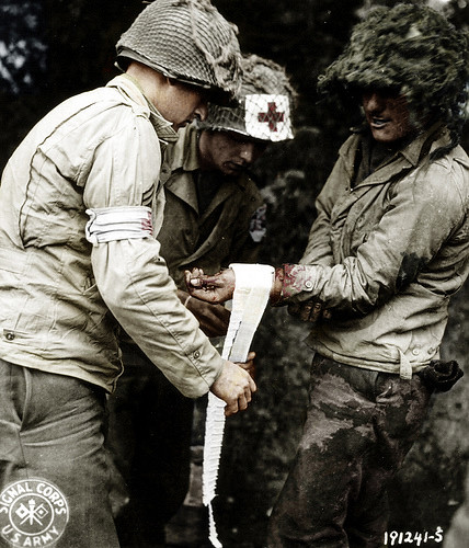 Wounded American Soldier Normandy France 1944 Wwii