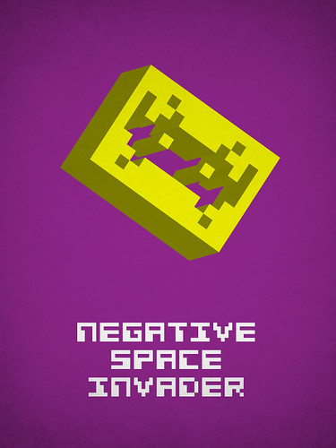 Negative space invader | by Viktor Hertz