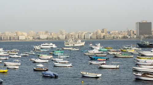 Small and bigger boats of Alexandria