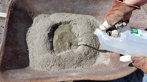 Add Water to Concrete Mix