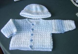 Blue baby boy crochet cardigan and hat the blue cardigan