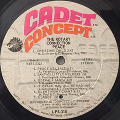 ROTARY CONNECTION:PEACE(LABEL SIDE-B)