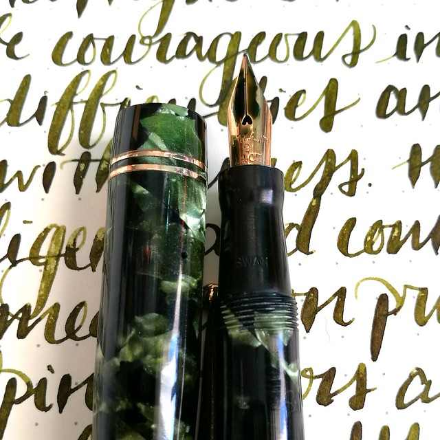 Swan Jade marble with Diamine Safari