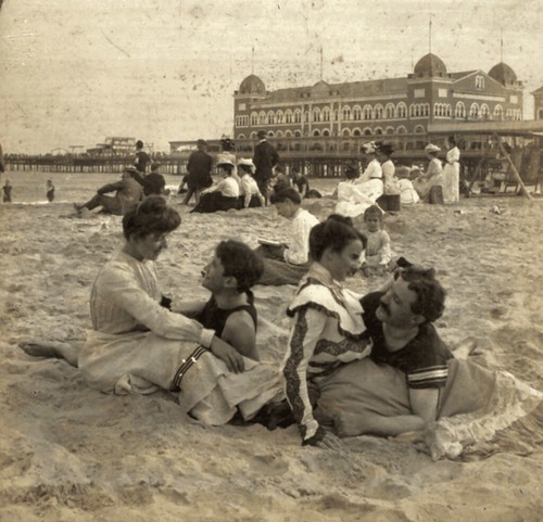 (animated stereo) Love at the seaside, 1902 | by Thiophene_Guy