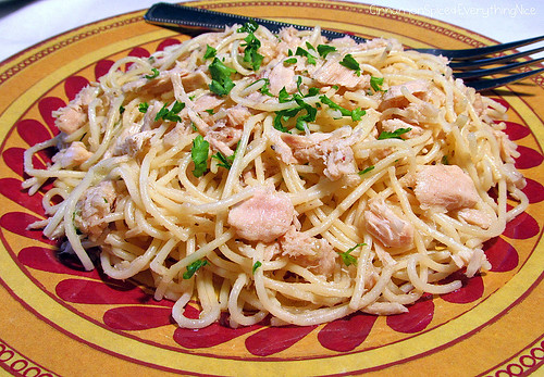 Angel Hair Pasta with Tuna Sauce | by CinnamonKitchn