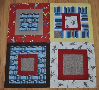 4 monkey quilt blocks | by vickivictoria