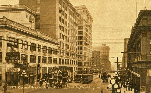 2nd Ave from Spring St, Seattle, circa 1911 | by Rob Ketcherside