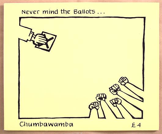 "CHUMBAWAMBA NEVER MIND THE BALLOTS 12"" LP VINYL"