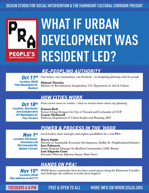 What if Urban Development was Resident Led Event at DS4SI 5