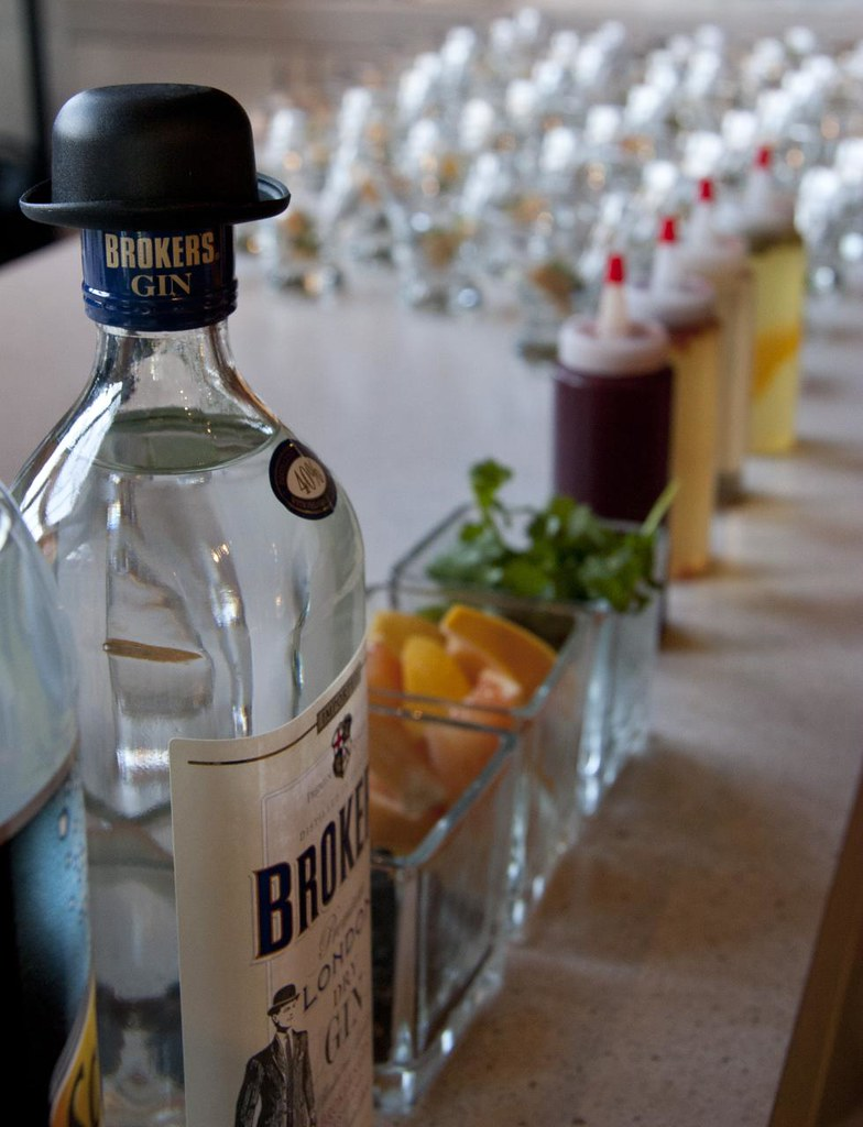 Broker's Gin at the Spanish Secret Pickle Supper Club