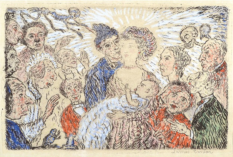 James Ensor - Envy (L'Envie) from The Deadly Sins (Les Péchés capitaux) 1904