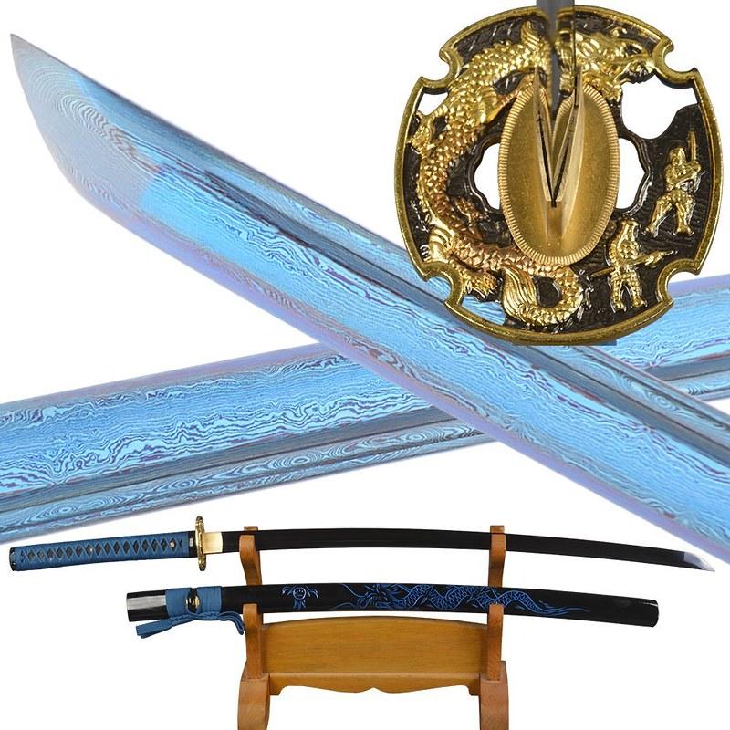 Japanese-samurai-sword-blue-blade